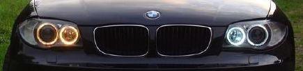 Comparatif halogène - led sur angel eyes BMW