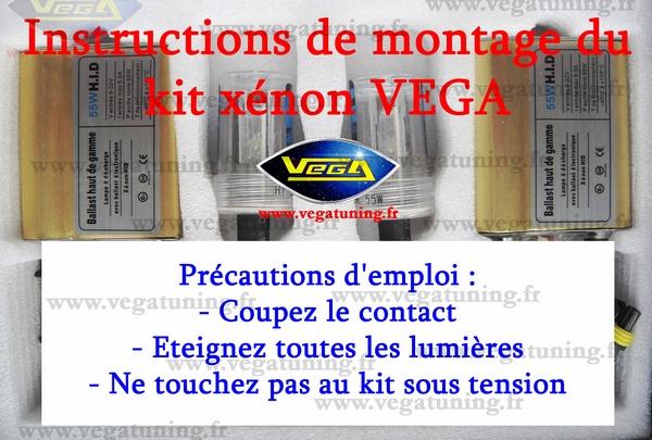 Montage kit xénon HID 55W Vega Page 0