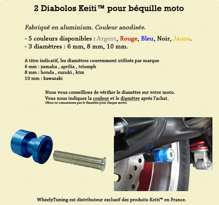 2 DIABOLO BEQUILLE ROUGE DL V-STROM 650 1000 GLADIUS GT