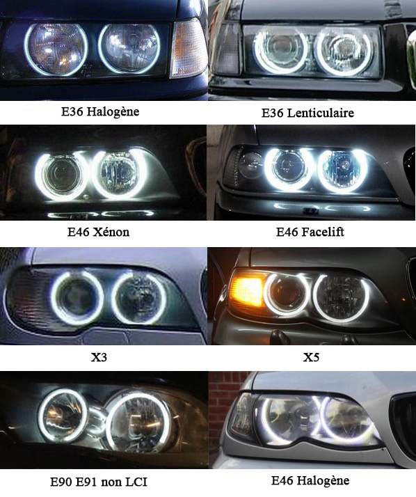 exemples installation BMW CCFL angel eyes