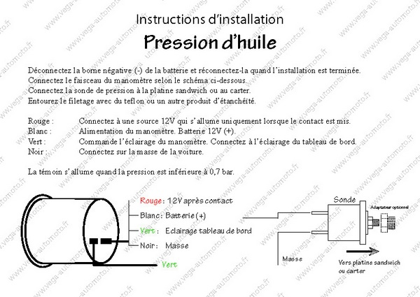 Instructions d'installation